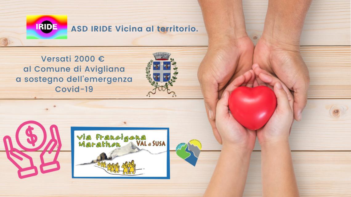 Donazione ASD IRIDE al Comune di Avigliana